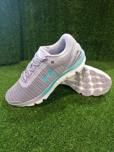 Immagine di UNDER ARMOUR SCARPA DONNA RUNNING CHARGED 3021245 - 400 GREY - GREEN MARINE