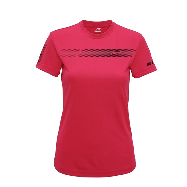 Immagine di ON FIRE T-SHIRT DONNA PINK HEARTS BLACK