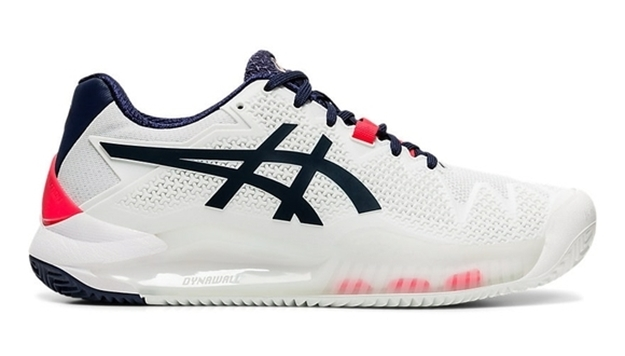 Immagine di ASICS SCARPA DONNA GEL RESOLUTION 8 CLAY WHITE/PEACOAT