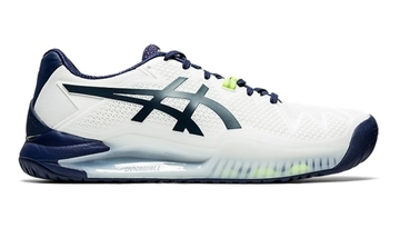 Immagine di ASICS SCARPA UOMO GEL-RESOLUTION 8 L.E. - WHITE/PEACOAT